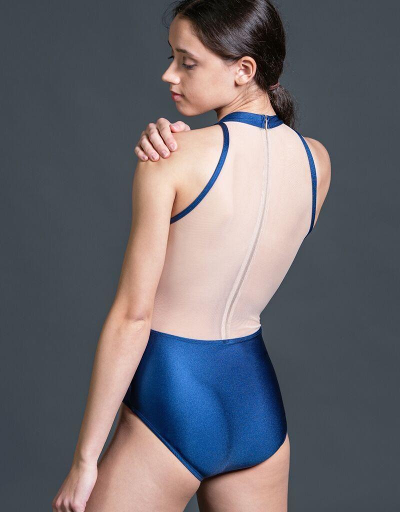 W/S Adult Apparel Radiance mock turtleneck with mesh zip back