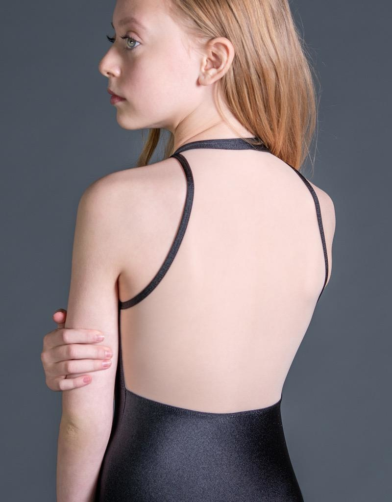 W/S Kid Apparel Radiance zip front tank with mesh back
