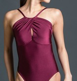 W/S Adult Apparel Symmetry draped halter with keyhole