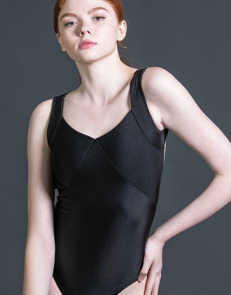W/S Adult Apparel Symmetry tank leotard with bar back