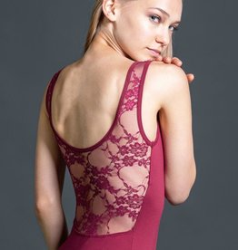 W/S Adult Apparel Constance pinch front tank with lace scoop back