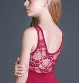 W/S Kid Apparel Constance illusion neck tank with lace back