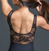 W/S Adult Apparel Constance illusion neck tank with lace back
