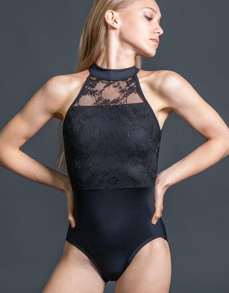 W/S Adult Apparel Constance high neck with lace bodice overlay