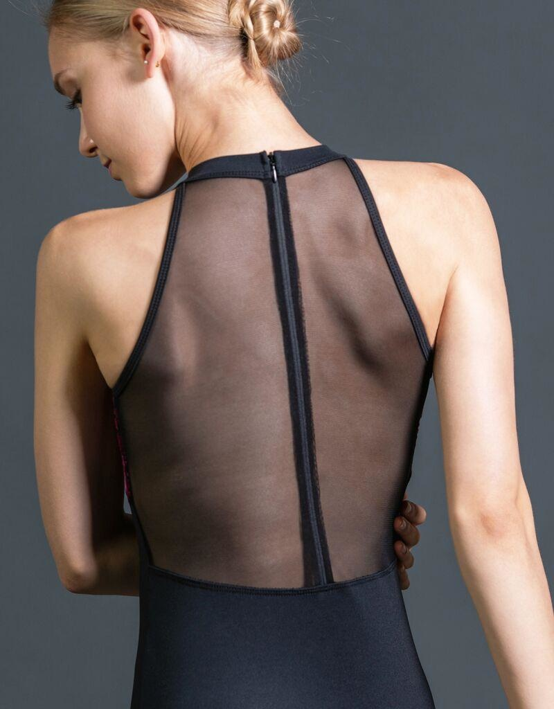 W/S Adult Apparel Art Nouveau empire high neck with mesh zip back