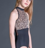 W/S Kid Apparel Art Nouveau empire high neck with mesh zip back