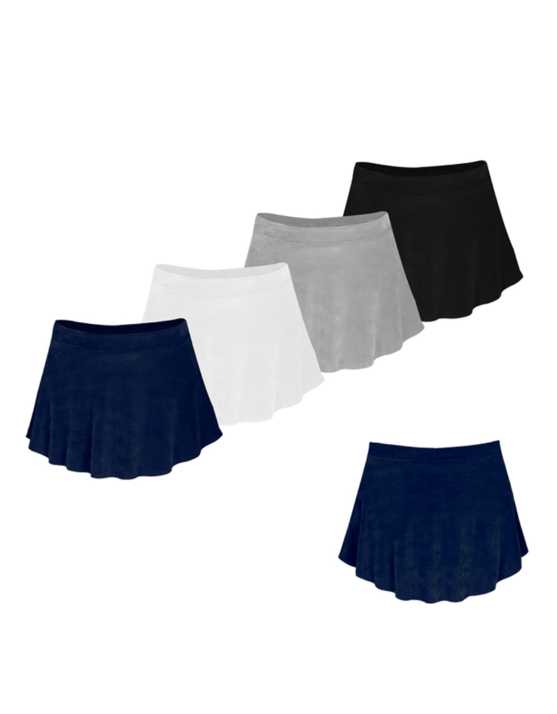 W/S Adult Apparel Pull-On High Low Slinky Skirt