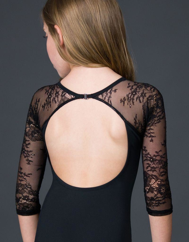 W/S Kid Apparel Silver Shadow Illusion Lace 3/4 Sleeve