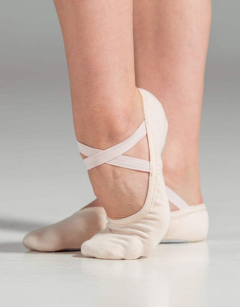 W/S Dance Shoe Slipor Stretch Canvas Split Sole Ballet Shoe-CM