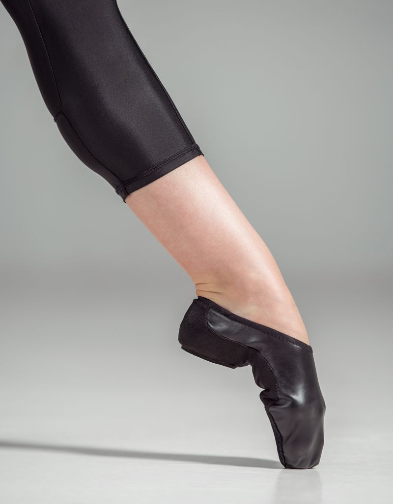 W/S Dance Shoe Suede Split Sole Neoprene Arch Jazz Shoe