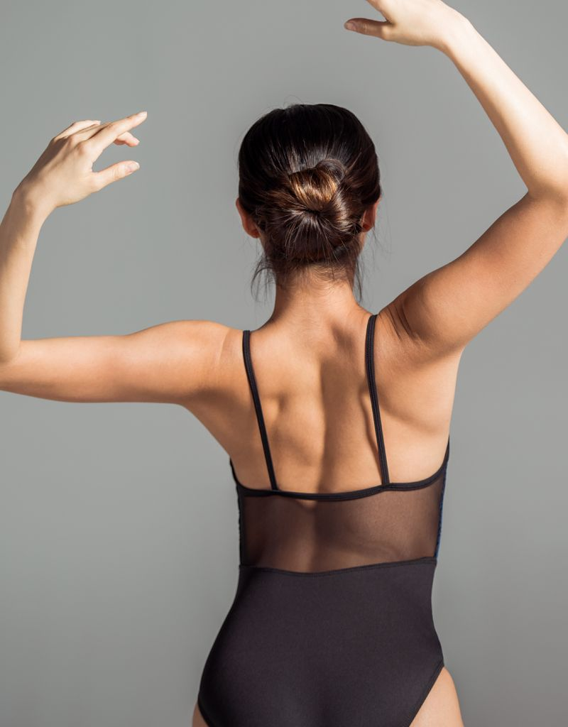 W/S Adult Apparel Velvet jewel neck with mesh back