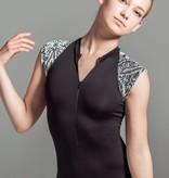 W/S Adult Apparel Velvet zip front cap sleeve