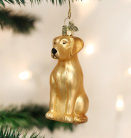 OLD WORLD CHRISTMAS YELLOW LABRADOR