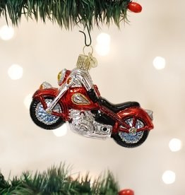 OLD WORLD CHRISTMAS MOTORCYCLE