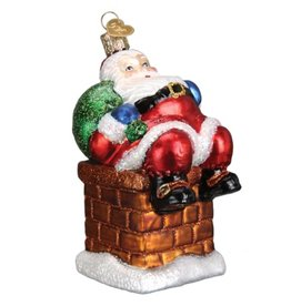 OLD WORLD CHRISTMAS CHIMNEY TOP SANTA