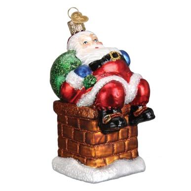 OLD WORLD CHRISTMAS CHIMNEY TOP SANTA