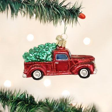 OLD WORLD CHRISTMAS OLD TRUCK WITH TREE