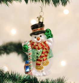 OLD WORLD CHRISTMAS CANDY CANE SNOWMAN