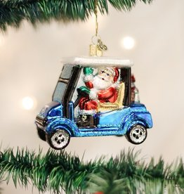 OLD WORLD CHRISTMAS GOLF CART SANTA