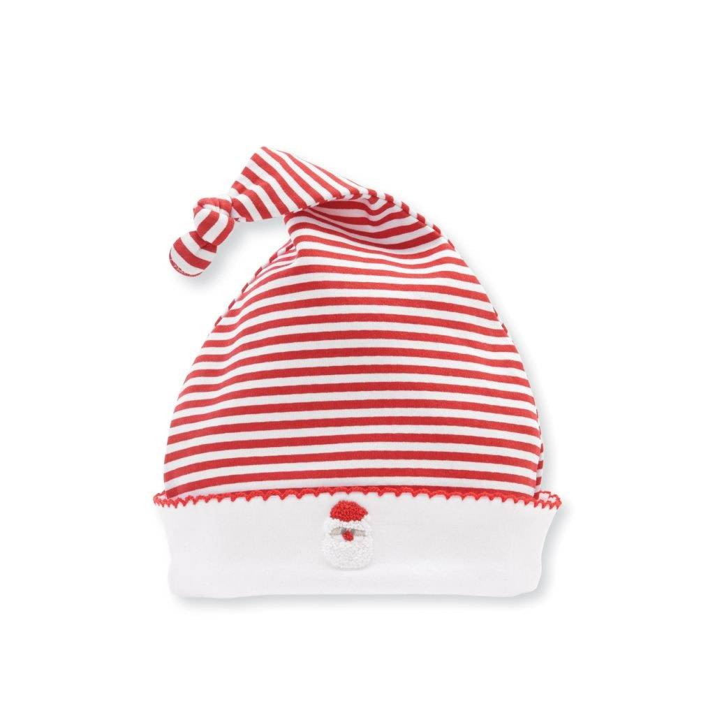 MUD PIE FRENCH KNOT SANTA CAP