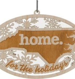 HOME STATE WOOD ORNAMENT