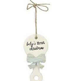 MUD PIE BABY'S FIRST CHRISTMAS ORNAMENT- BOY
