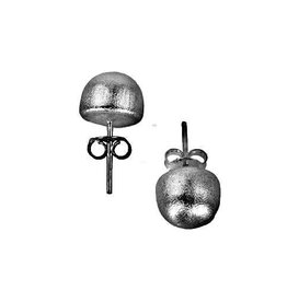 SHEILA FAJL LILOU LITTLE BALL STUD EARRINGS-BRUSHED GUNMETAL
