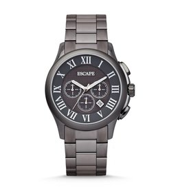 ESCAPE CAMBRIDGE CHRONOGRAPH STAINLESS STEEL WATCH SMOKE