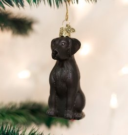 OLD WORLD CHRISTMAS BLACK LABRADOR