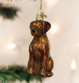 OLD WORLD CHRISTMAS CHOCOLATE LABRADOR