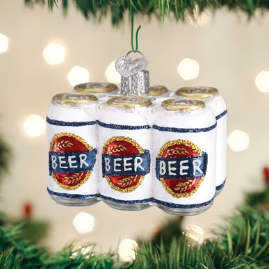 OLD WORLD CHRISTMAS SIX PACK OF BEER