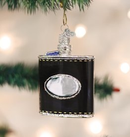 OLD WORLD CHRISTMAS FLASK