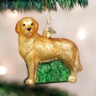 OLD WORLD CHRISTMAS GOLDEN RETRIEVER