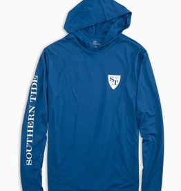 SOUTHERN TIDE OFFSHORE FISHING LONG SLEEVE PERFORMANCE HOODIE T-SHIRT
