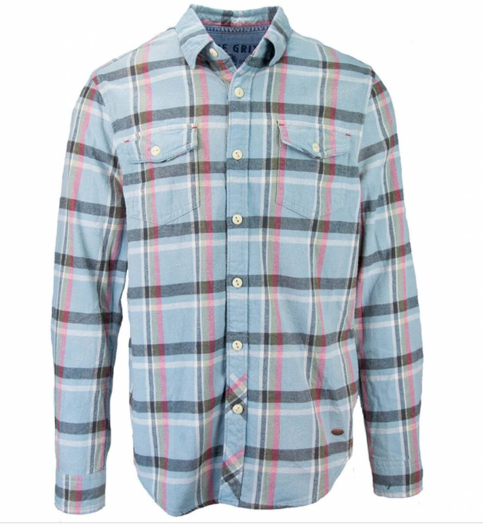 TRUE GRIT TAHOE PLAID L/S POCKET SHIRT