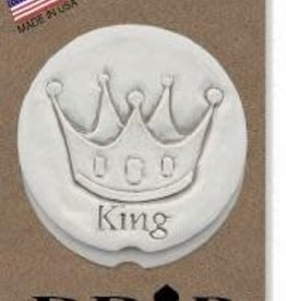 CROWN KING CAR COASTERS 2-PK