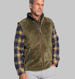 TRUE GRIT LUXE DOUBLE PLUSH ZIP VEST