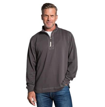 TRUE GRIT CASHMERE HEATHER FLEECE ZIP PULLOVER