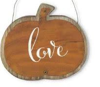 ASST. BARNWOOD AND TIN HANGING MESSAGE SIGNS/ORNAMENTS
