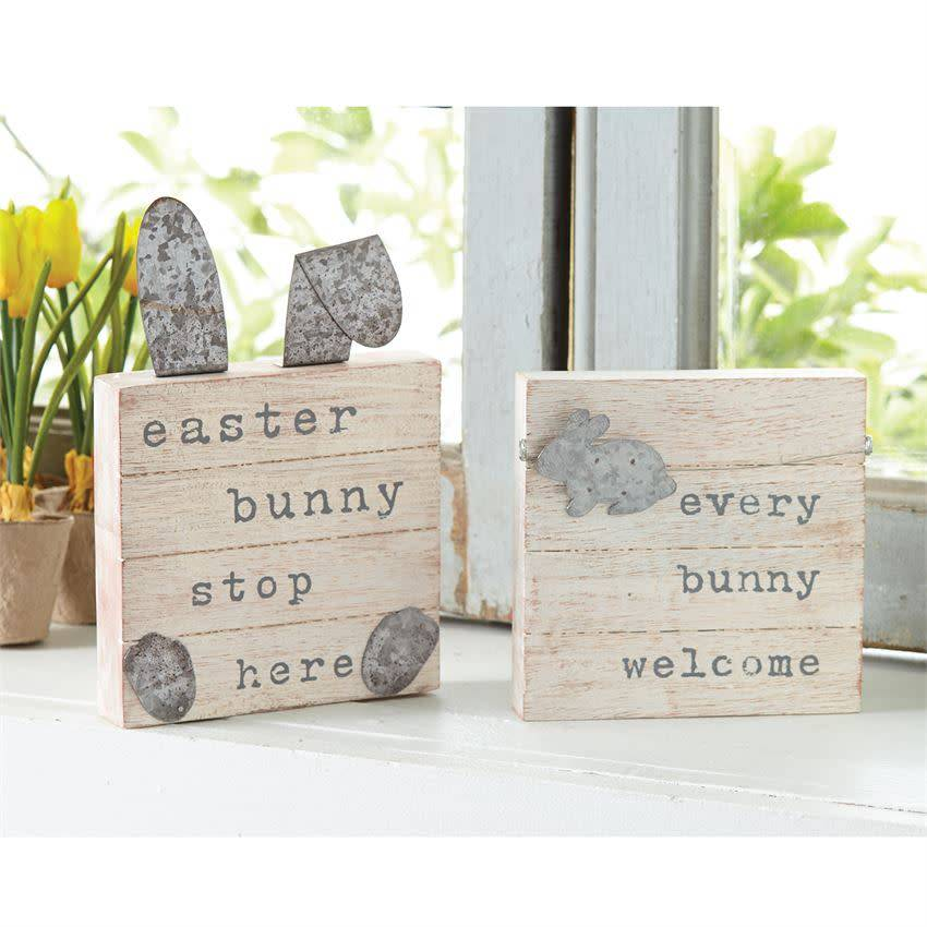 MUD PIE EASTER SMALL PLAQUES