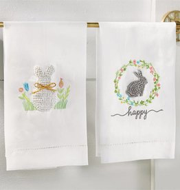 MUD PIE EASTER FRENCH KNOT TOWELS
