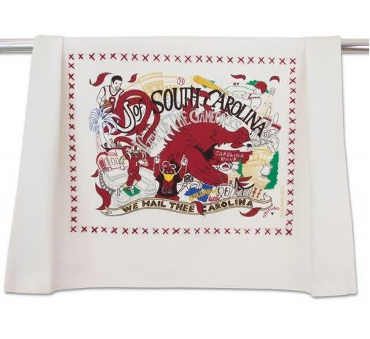 CATSTUDIO CATSTUDIO COLLEGIATE DISH TOWEL UNIVERSITY OF SOUTH CAROLINA