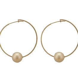 SHEILA FAJL CYNTHIA BALL HOOP EARRINGS