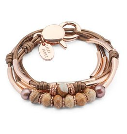 LIZZY JAMES FIG IN ROSE GOLD W/JASPER