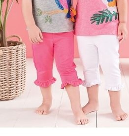 MUD PIE FRENCH TERRY RUFFLE CAPRI