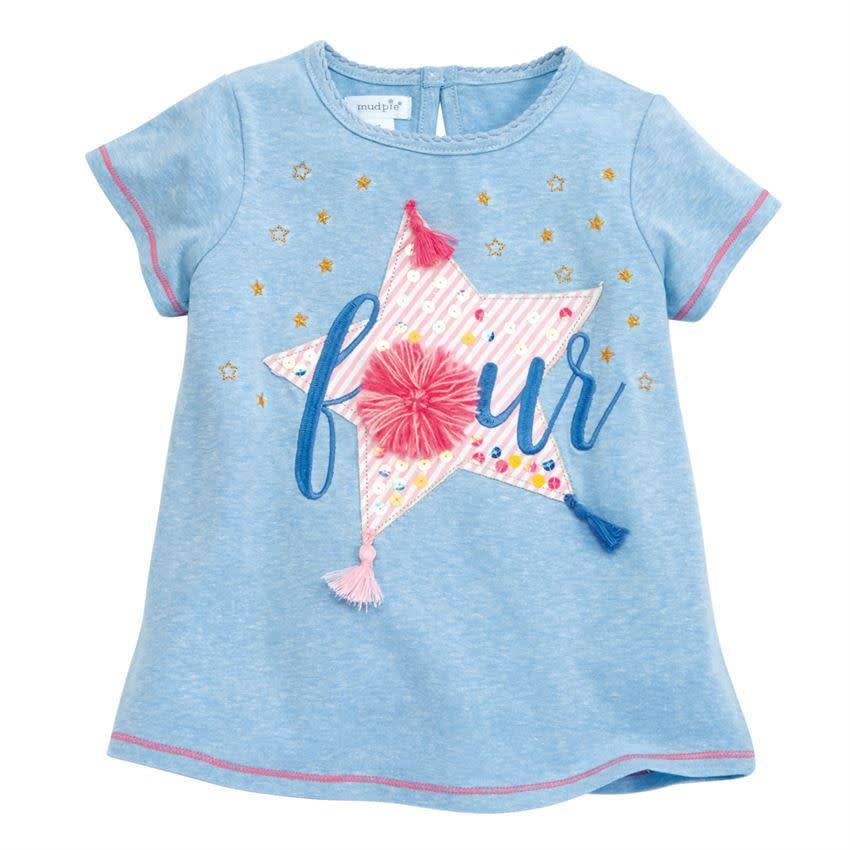 MUD PIE BIRTHDAY TEE- FOUR