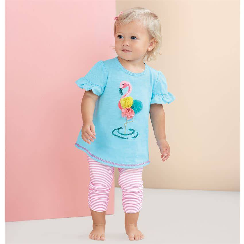 MUD PIE FLAMINGO TUNIC AND CAPRI- INFANT