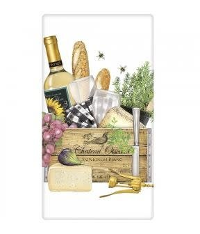 WINE CHATEAU GIFT BOX FLOUR SACK TOWEL
