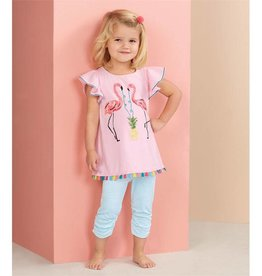 MUD PIE FLAMINGO TUNIC AND CAPRI