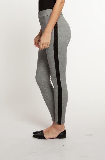 DEX HOUNDSTOOTH LEGGING PANT W/CONTRAST STRIPE
